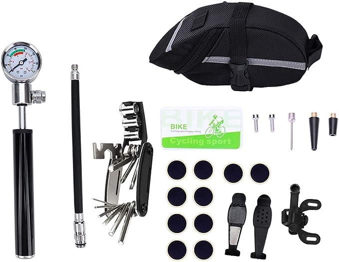 LIOOBO 1 Juego de Mini Bomba de Bicicleta, Kit de reparación de ...