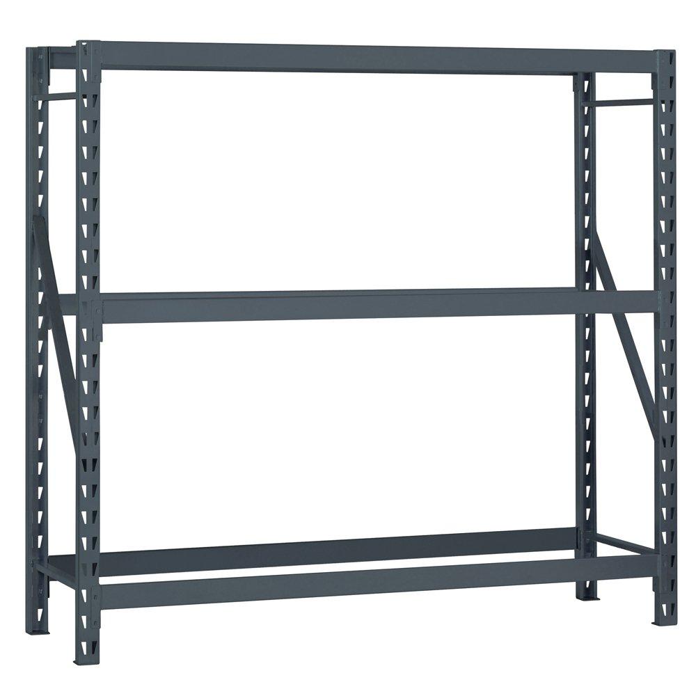 Industrial Gray 1800 lb Starter Type Capacity Edsal ERU9624120S E-RACK Bulk Storage Rack without Decking 96 W x 24 D x 120 H 3 Shelves