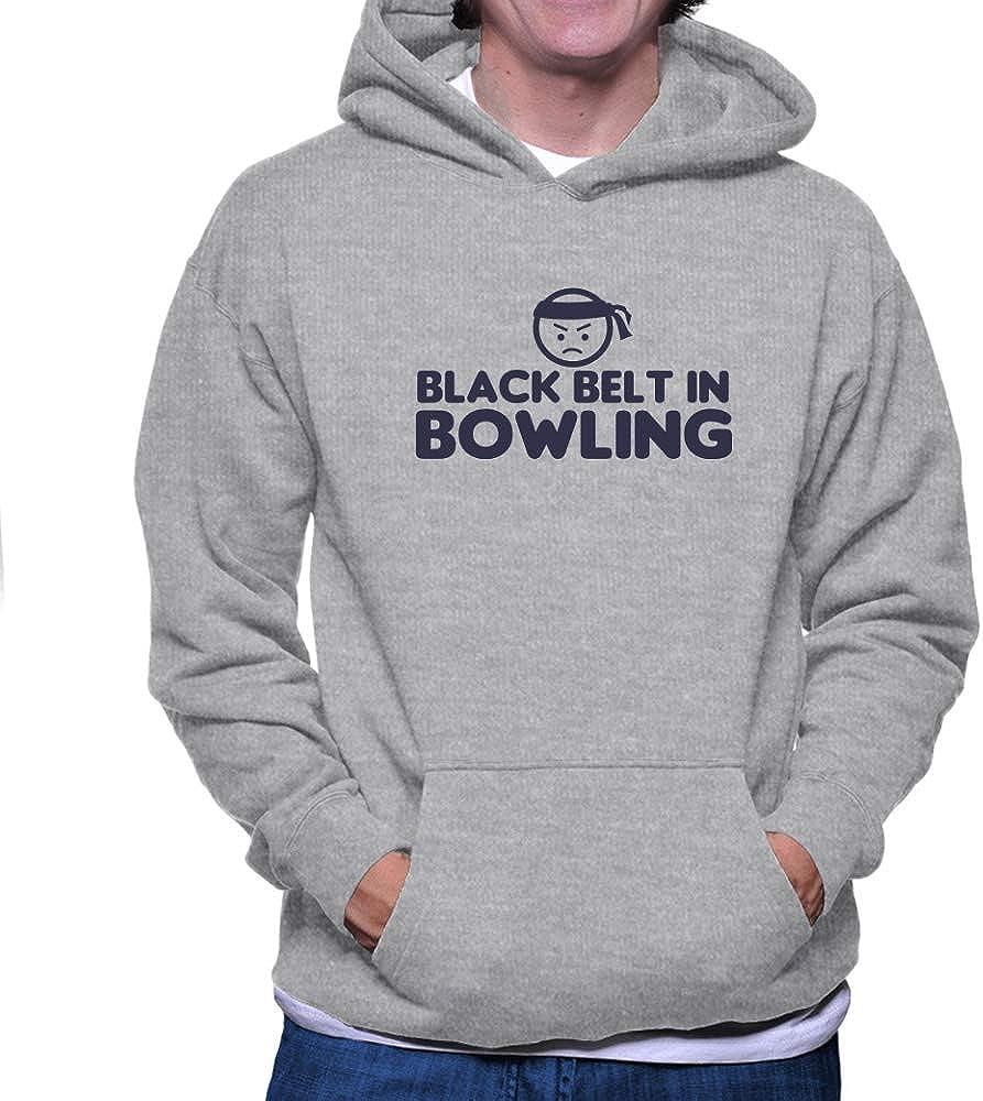 Teeburon Black Belt in Bowling Hoodie