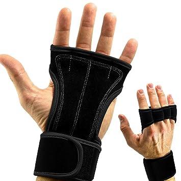 cforward deportes asas de piel guantes con muñeca apoyo para Cruz Fitness WOD, Pull Ups