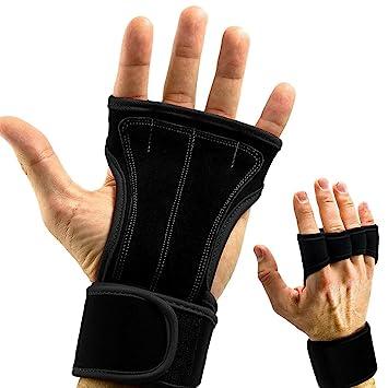 cforward deportes asas de piel guantes con muñeca apoyo para Cruz Fitness WOD, Pull Ups, pesa rusa Barra para mancuernas ...
