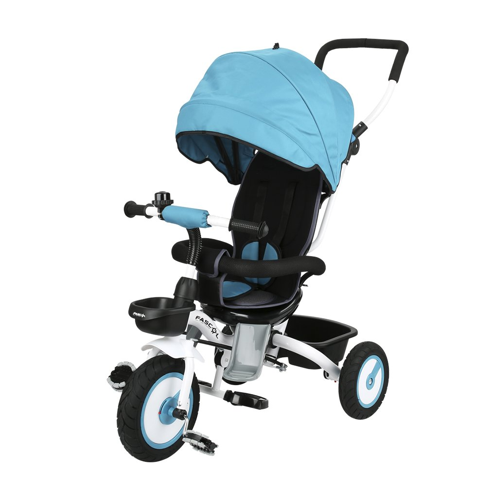 Fascol Folding tricycle Childrens Tricycle Kids Trike 3 Wheel Bike for Children 6 month - 5 years, blue