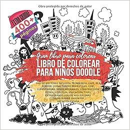 Libro De Colorear Para Niños Doodle Extra Grande 400