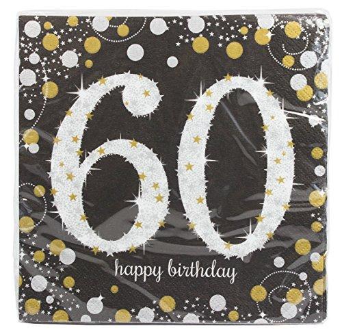 60th Birthday Napkins (Sparkling Celebration 60 Beverage Paper Napkins (Pack of)