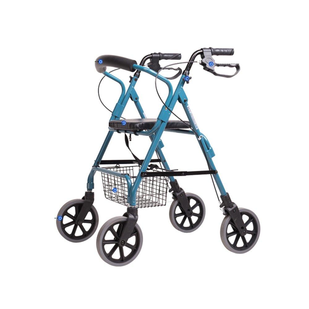 毎日 多機能ウォーキングエイドショッピングカート車いすノンスリップ防水折りたたみは、高齢者に適して、身体のトロリー B07KH8PZGY