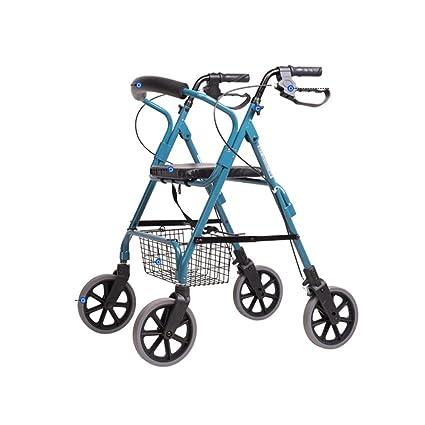 Guo shop- Multifunción Walking Aid Carro de compras ruedas antideslizante impermeable plegable conveniente para las