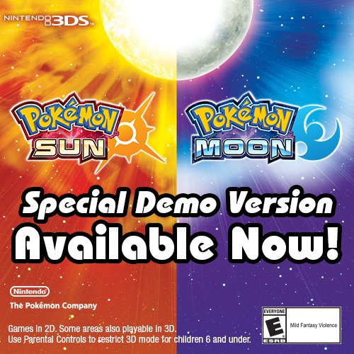 Pokémon Sun and Pokémon Moon Special Demo Version- Nintendo 3DS [Digital Code]