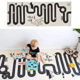 Muyumida Baby Crawl Mat Kids Adventure Rug Floor Mat Street Map Funny Baby Infant Blankets Tapestries Crawling Carpet Kids Rug