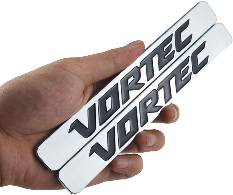 Black Chrome 2 Pcs Vortec Emblem 3D Logo Badge Replacement for Chevrolet Silverado Gm Sierra Truck 2500HD