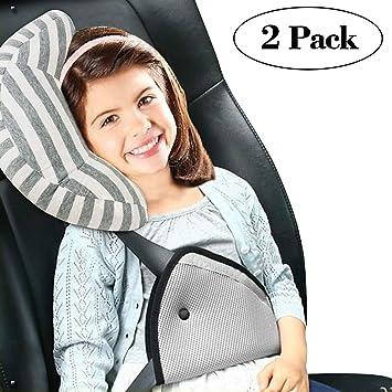 Onshine Seatbelt Adjuster Car Cushion Pad Headrest Neck Support Soft Sleep Pillow For