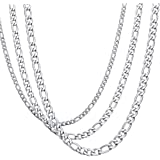 Amazon Price History for:KissYan Stainless Steel Necklace Chain 3MM-6MM Figaro Chain Link For Women and Men 18-36 Inches