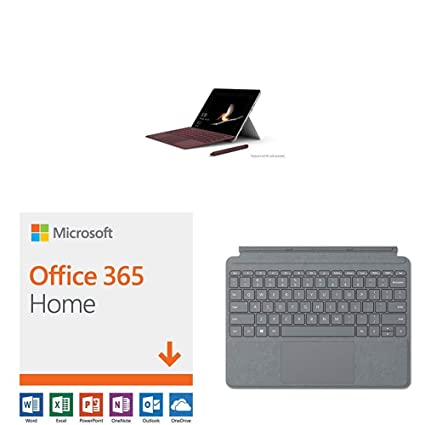 New Microsoft Surface Go (Intel Pentium Gold,4GB RAM/ 128GB) with Microsoft  Office 365 Home | 12-month subscription with Auto-renewal, up to 6 people,