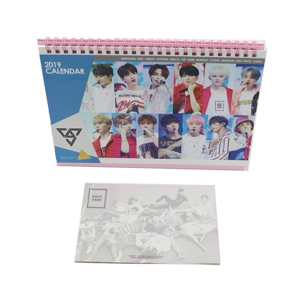 Diciassette k-pop 2019 calendario da tavolo con mini photo Cards Idolgoods