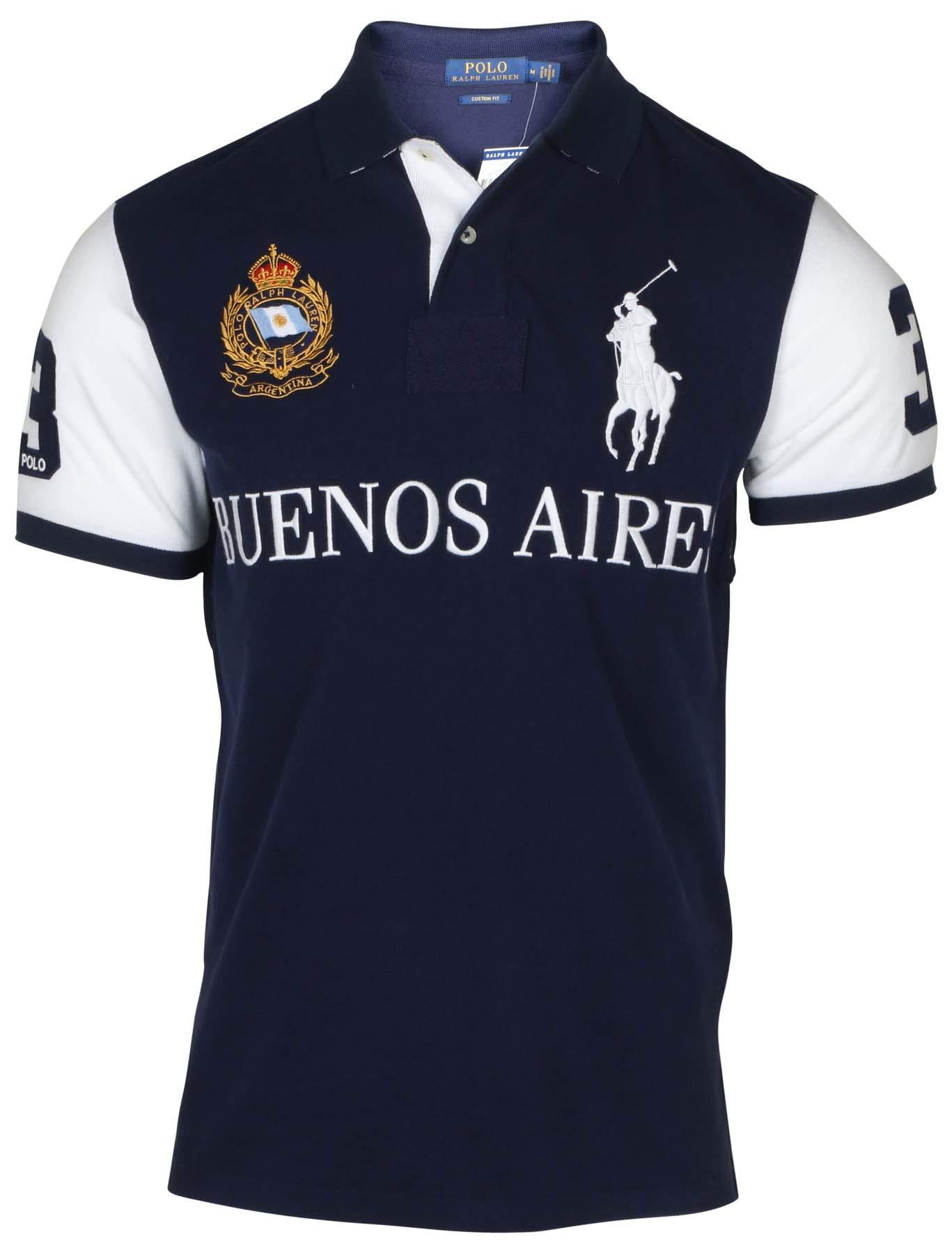 a6c64d07 Galleon - Polo Ralph Lauren Mens Big Pony City Custom Fit Mesh Polo Shirt  (S, White Miami)