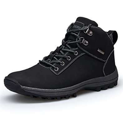 Men's Warm Winter Snow Boot Fur Lined Lace Up Ankle Sneakers High Top Shoes Fashion Sneaker
