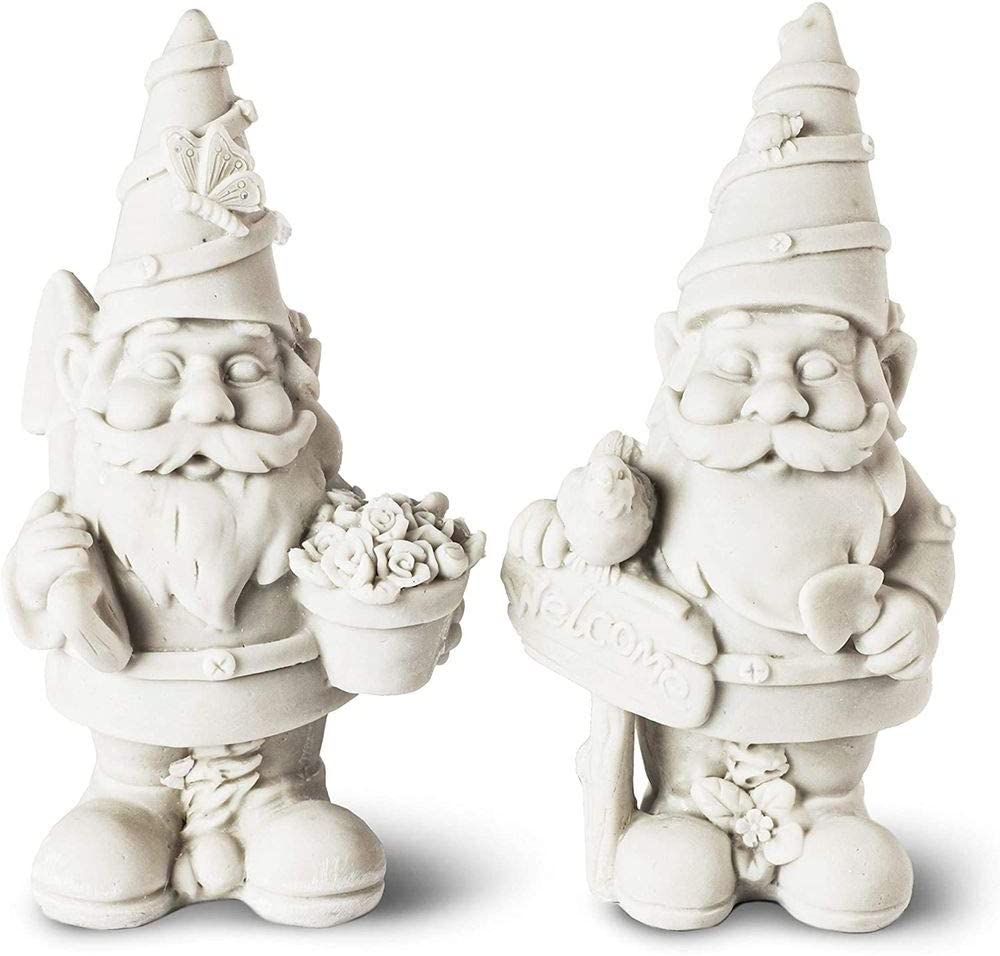 Garden Gnome, Paint Your Own (5 in, 2 Pack)