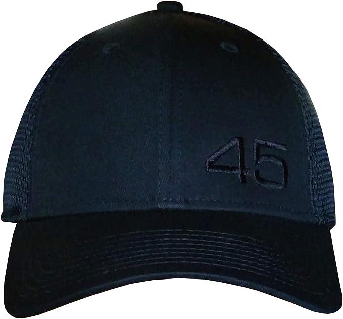 26c3359f 45 Trump Hat - New Era Structured Mesh Back Cap (Black/Black Small Off