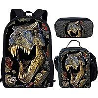 Showudesigns Cool Printing Dinosaur Kids Backpack with Mesh Side Pocket