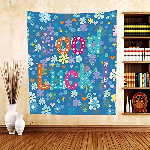 Gzhihine Custom tapestry Going Away Party Decorations Tapestry Goodbye Written on Asphalt Road Highway City Urban Words for Bedroom Living Room Dorm 60WX40L Brown Blue White -