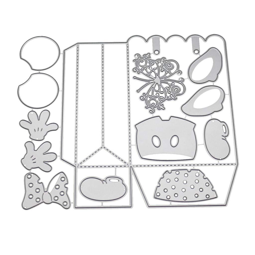 3 Forme Accessori per Sizzix Big Shot e Altre Macchine Set di Fustelle 3D per Scrapbooking Xurgm