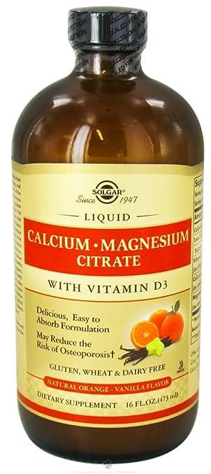 Solgar - Liquid Calcium Magnesium Citrate with 3 Natural Orange Vanilla
