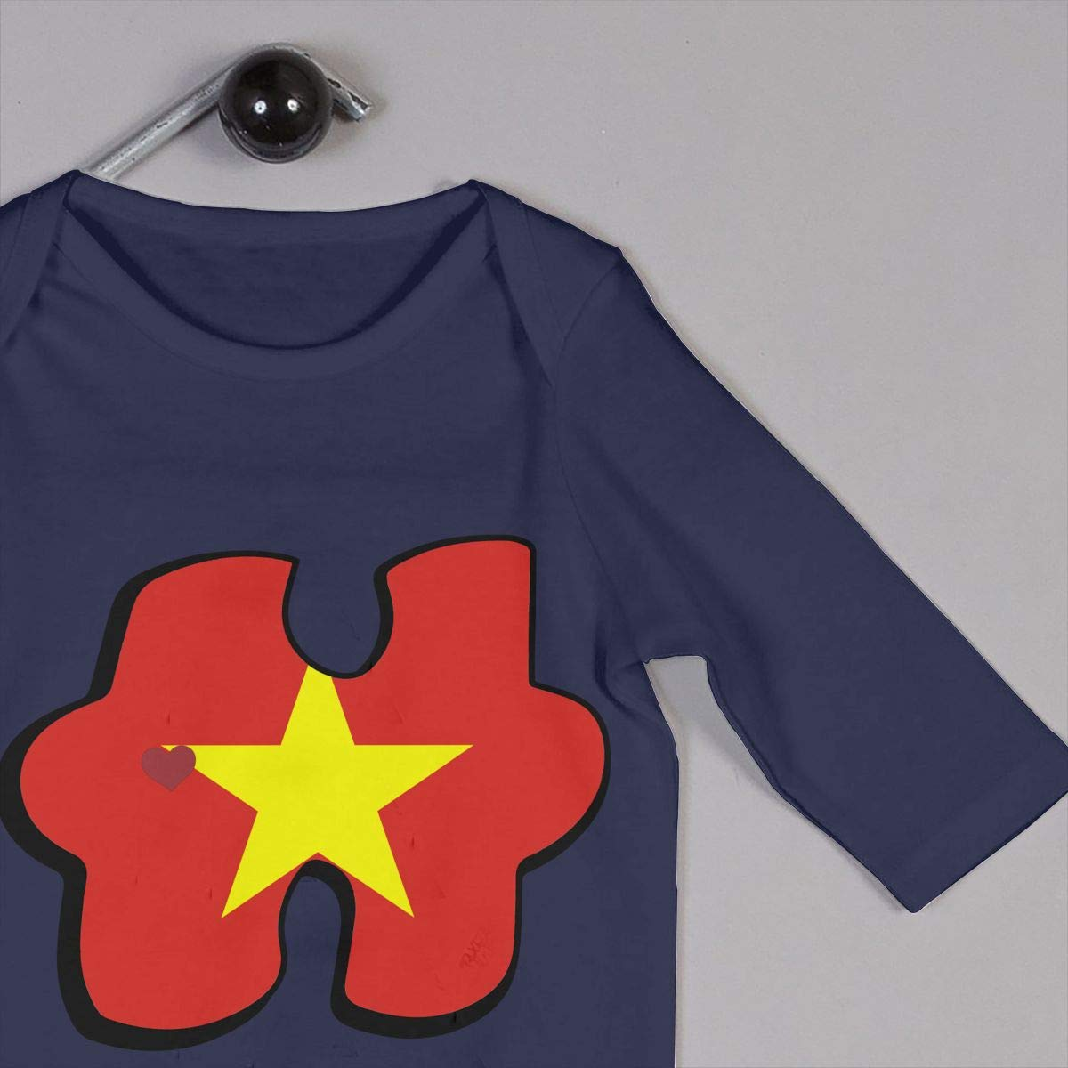 Mri-le1 Toddler Baby Boy Girl Bodysuits Autism Awareness Vietnam Flag Puzzle Baby Rompers
