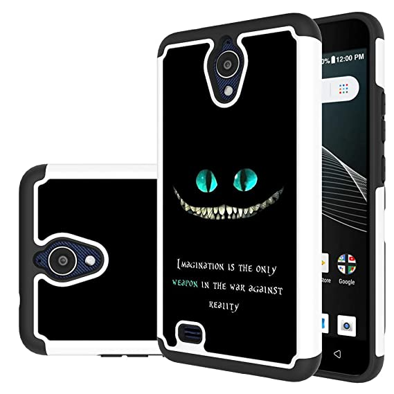 quality design 35964 ead40 AT&T AXIA Case, Yiakeng Dual Layer Shockproof Wallet Slim Protective with  Kickstand Hard Phone Cases Cover for AT&T AXIA(QS5509A) (magination Weapon)