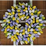The-Wreath-Depot-Yellow-and-Pale-Lavender-Tulip-Front-Door-Wreath-19-Inch