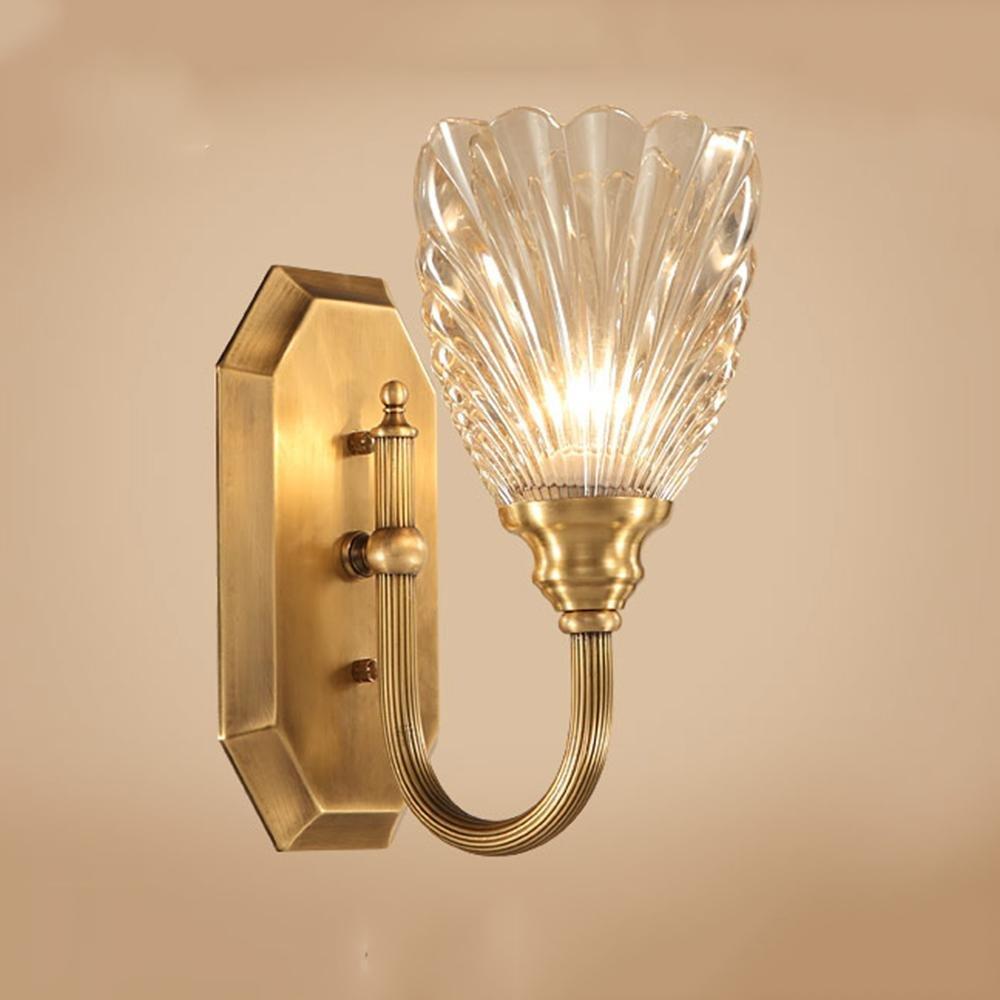 A TAI2 Wandleuchte LED, Spiegel Frontleuchte E27, Wohnzimmer Schlafzimmer Nachttischlampe 7W, Seeksung Korridor Kupferbeleuchtung, Lampen