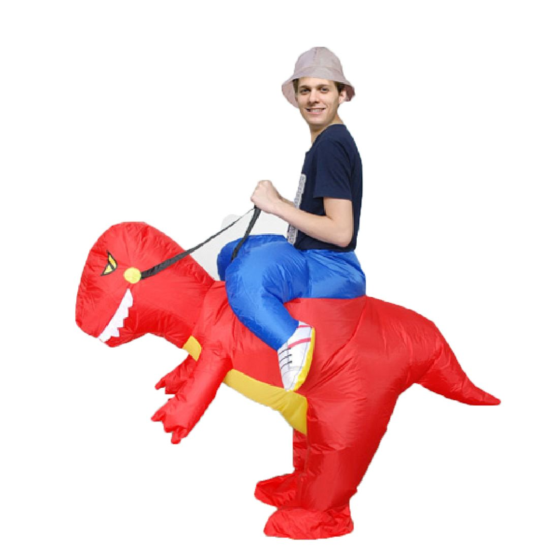 Halloween Inflatable Red Green Dinosaur Cosplay Fancy Dress Costumes