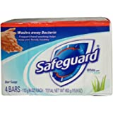 Safeguard Deodorant Antibacterial Deodorant Soap, White, 16 Ounce