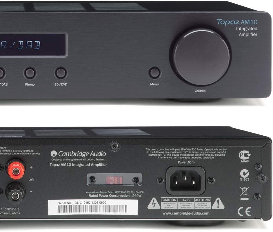 Amazon.com: Cambridge Audio Topaz AM10 Amplificador ...