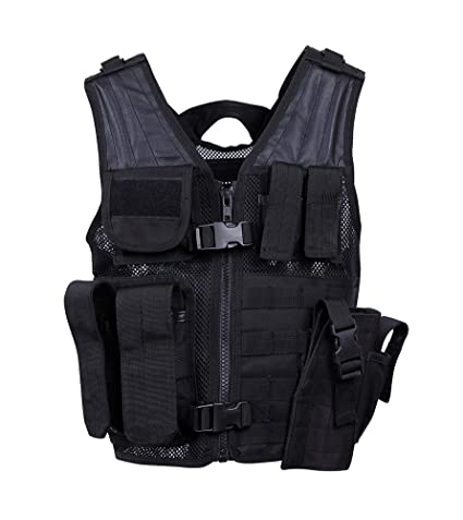 Amazon.com   Rothco Tactical Cross Draw MOLLE Holster Vest Black   Sports    Outdoors 7d269eb998f