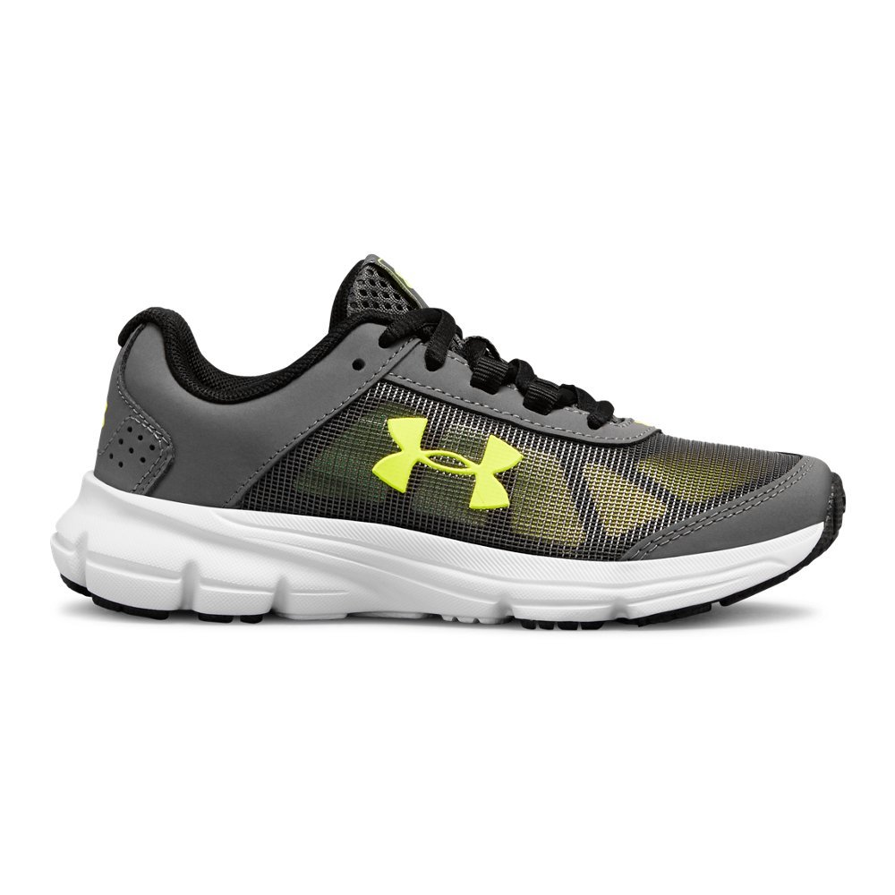 Under Armour Boys' Pre School Rave 2 Sneaker, Graphite (101)/White, 3