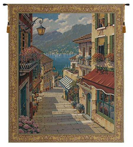 Charlotte Home Furnishing Inc. Belgian Tapestry Wall Hanging, 38 in. x 47 in, 'Bellagio - Bv Tapestry