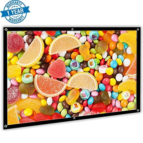 84' Matte (Remoze 84 Inch Projection Screen 16:9 Portable HD Movie Screen, PVC Fabric Projector Screen for Outdoor Home Theater)