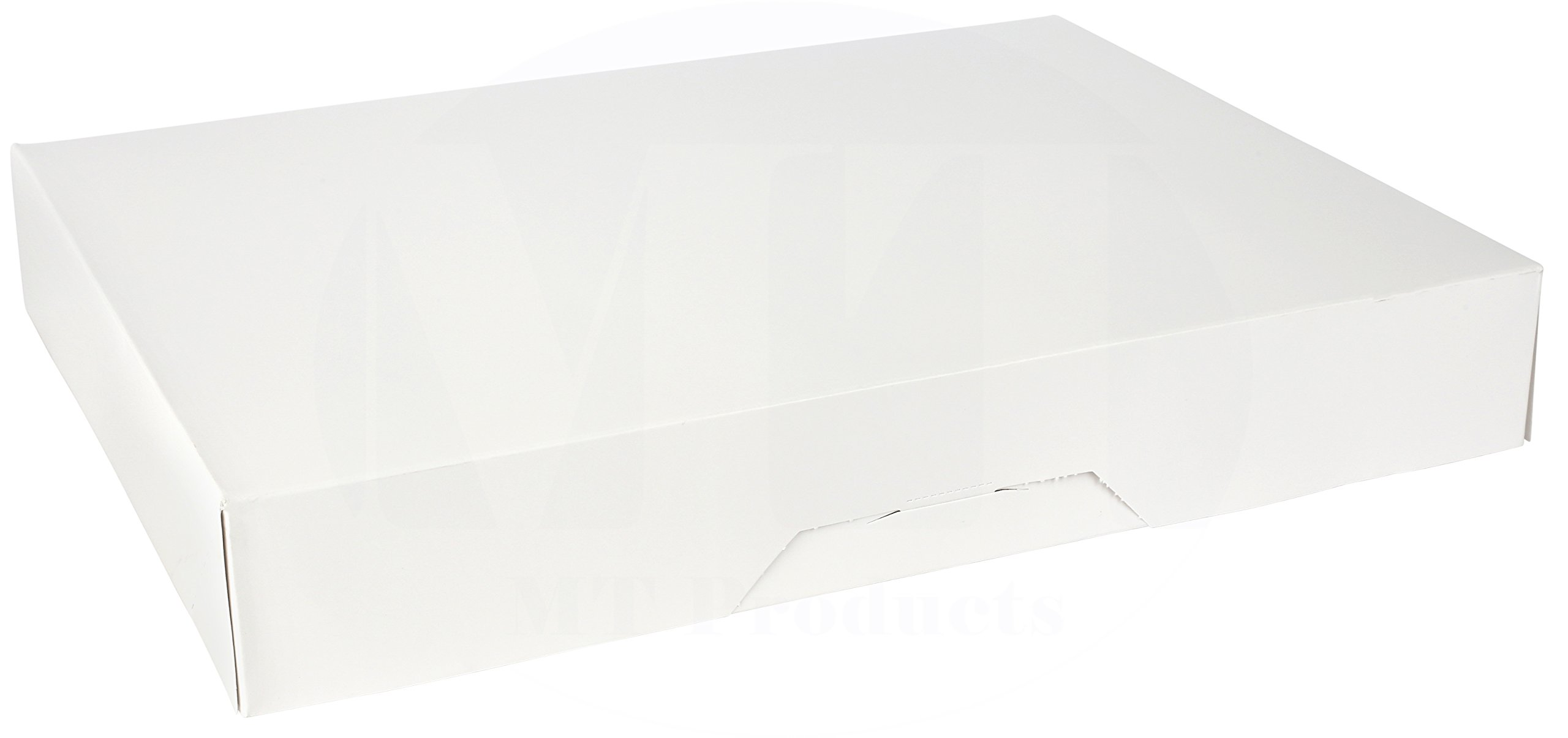 15'' Length x 11.5'' Width x 2.25'' Height White Kraft Paperboard Auto-Popup 1-Piece Donut Bakery Box by MT Products (Pack of 15)