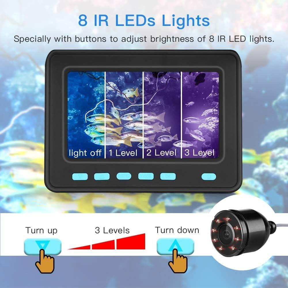 720P HD WiFi Unterwasserkamera Videokamera Fishfinder Angeln IR Wasserdichte 20M