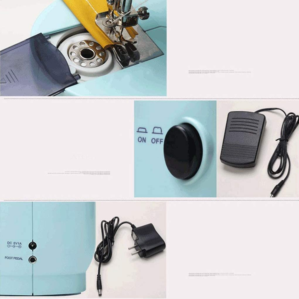 Portable Household Sewing Machine Free-Arm Crafting Mending Machine Ainviata Mini Electric Sewing Machine for Beginner Tailors