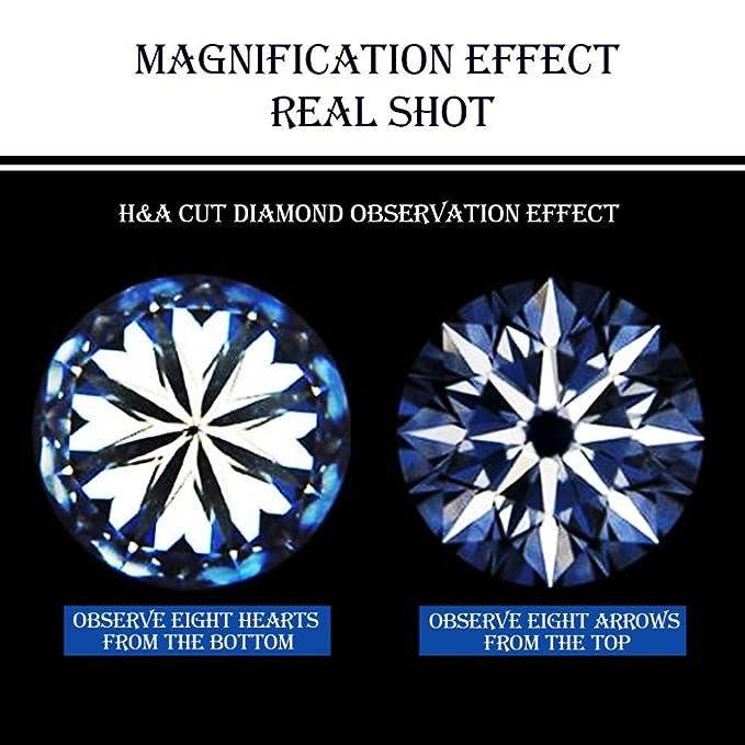 5x Mini Lupas de mano Libro de lectura Anillo de diamante Corte Espejo Identificación de la joyería Metal Torre Corazón Flecha Herramienta de observación de ...