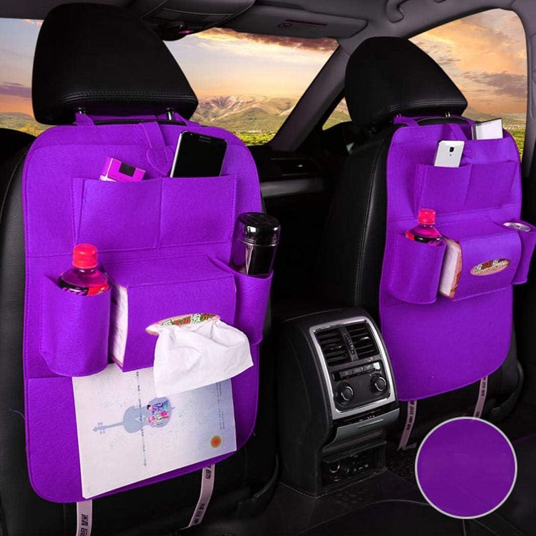 SUPRIQLO Car Seat Storage Bag Auto Multi-Pocket Felt Covers Organizer Storage Holder Seat Back Organizers