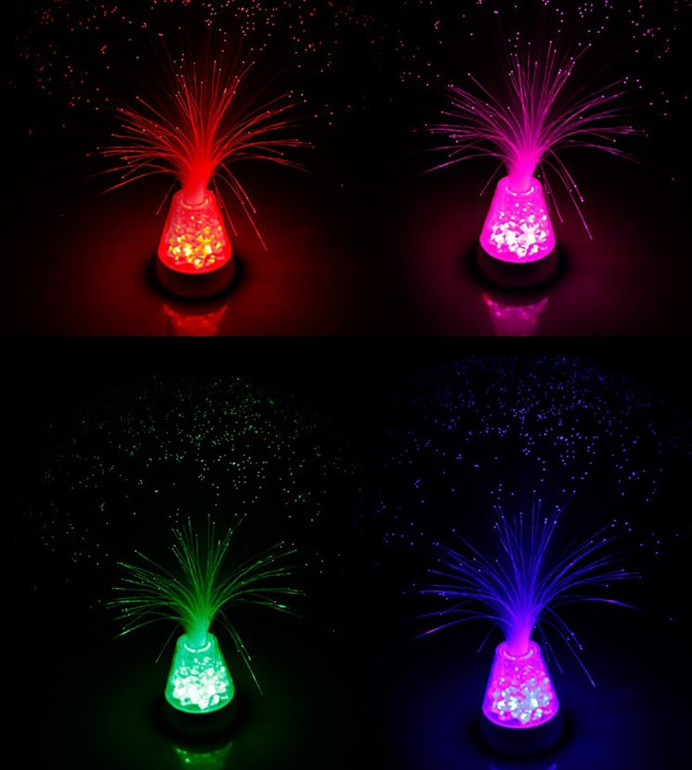 Nightlight Star glow remote control ice fiber lights colorful discoloration holiday decoration colorful fiber lantern creative Environmental protection LED energy saving brightness adjustment by XiYunHan (Image #3)