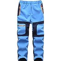 CAMLAKEE Pantalon Trekking Niño Invierno - Pantalones de Montaña Niña Impermeables con Forro Polar - Pantalones de…