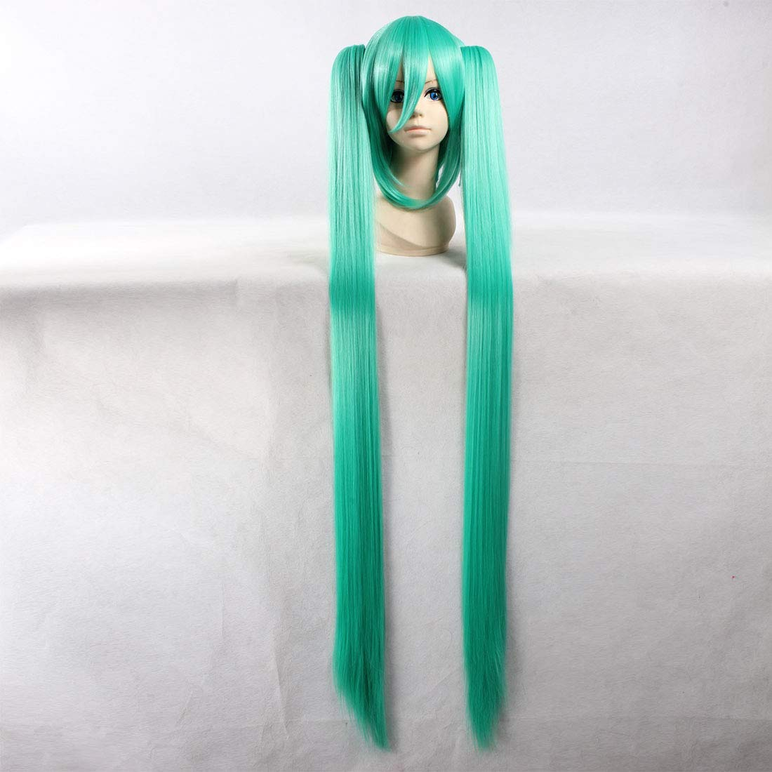 Peluca recta extra larga de HOOLAZA verde para Hatsune Miku ...