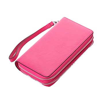 Cartera Vendimia Mujer Cuero Genuino Multi Card Holder ...