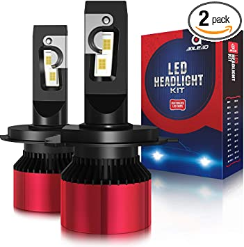 Low Beam H4 LED Conversion Super Bright Headlight Bulbs High