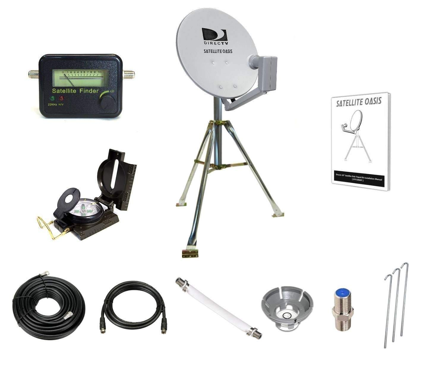 Satellite Oasis Directv 18'' Satellite Dish Rv Tripod Kit