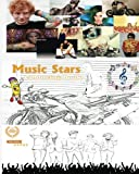 Music Stars Colouring Book - Multi Award Winners: Adele, Beyonce, Bruno Mars, Ed Sheeran, Eminem, Justin Timberlake, Katy Perry, Lady Gaga, Michael ... enjoy stress free colouring of their Lyrics
