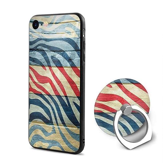 quality design 8802f df5d2 Amazon.com: Zebra Print iPhone 6/iPhone 6s Cases,Art Colored Zebra ...