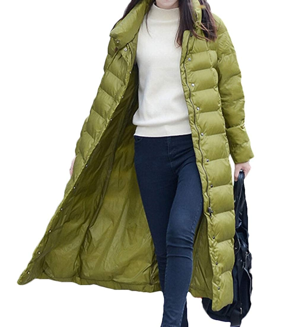 1 jxfd Women's Stand Collar Packable Down Jacket Coat Puffer Long Overcoat